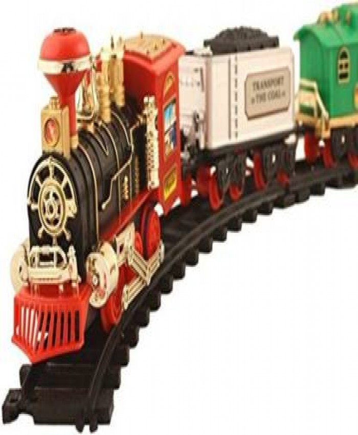 CHESHTHA Battery Operated Choo Choo Classical Toy Train Set with Light ,Sound & Smoke  (Multicolor)