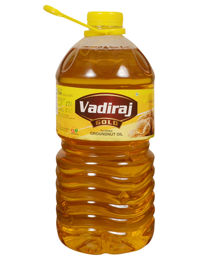 Vadiraj Gold Groundnut Oil 5 Ltr