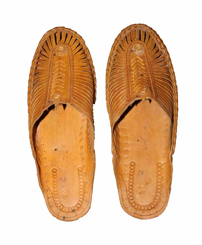 Kolhapuri Bantu Chapi Half Henaki Shoes