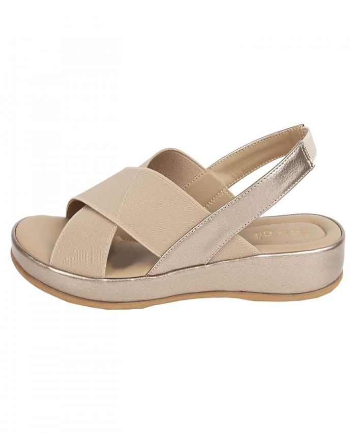 Women's Gold Flat Slip